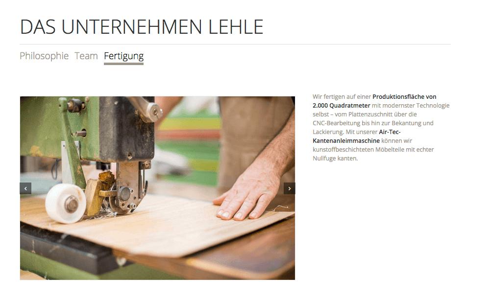 LEHLE Website FERTIGUNG