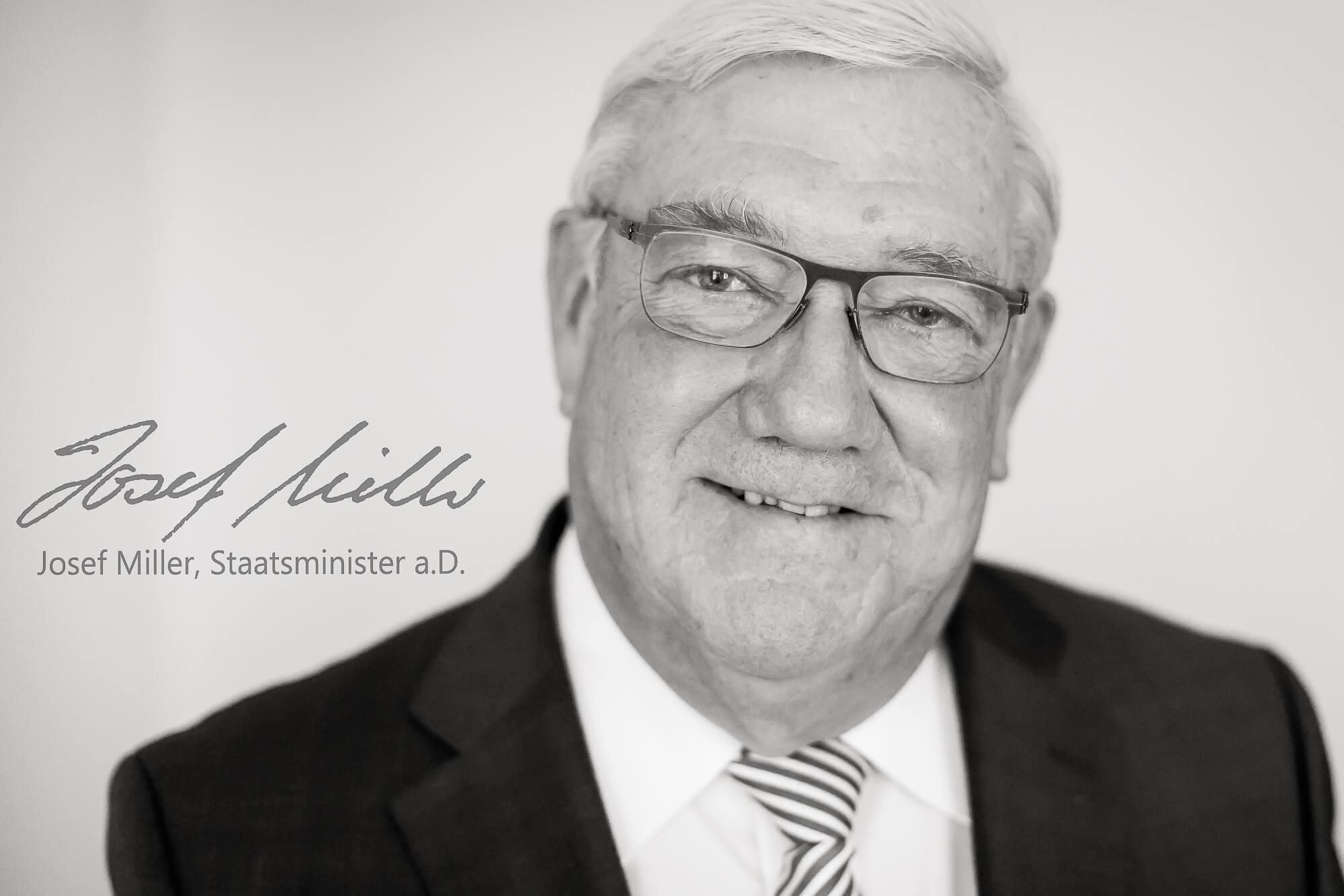 Josef Miller, Staatsminister in Bayern fotografiert von Matthias Baumgartner