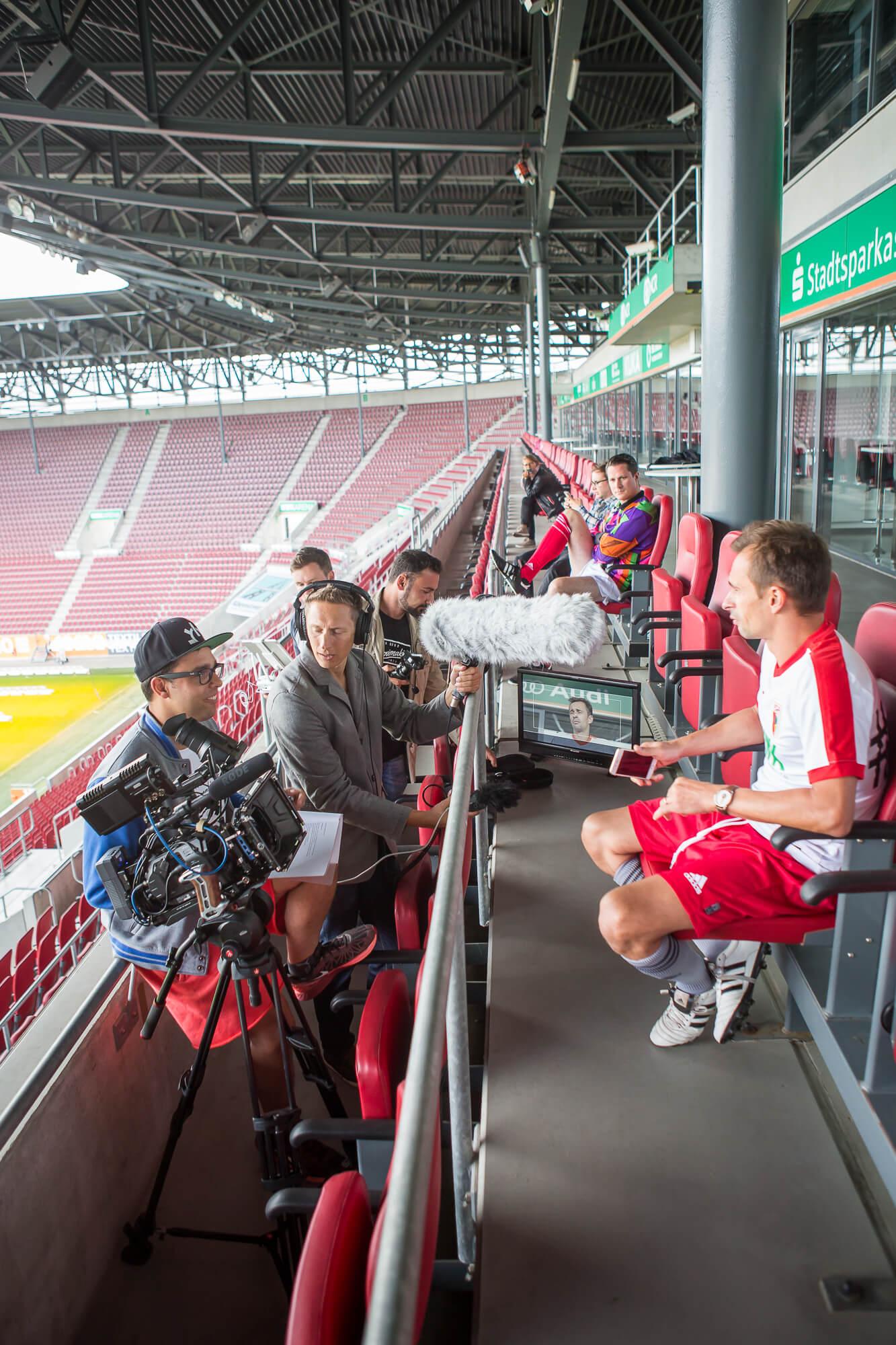 FCA Stadion und Audi Q2 Dreh-Matthias Baumgartner Videofotografie