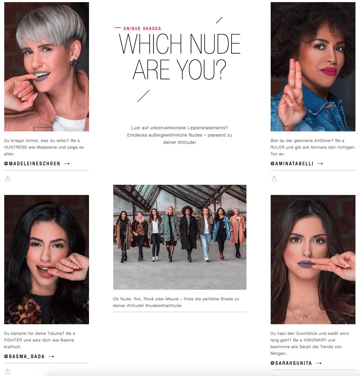 Maybelline New York mit den Influencern Madeleine Schön, Aminata Belli, Basma Bada und Sarah Sunita