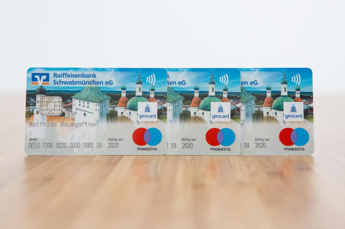 EC-Karte Raiffeisenbank Schwabmünchen, Foto Matthias Baumgartner