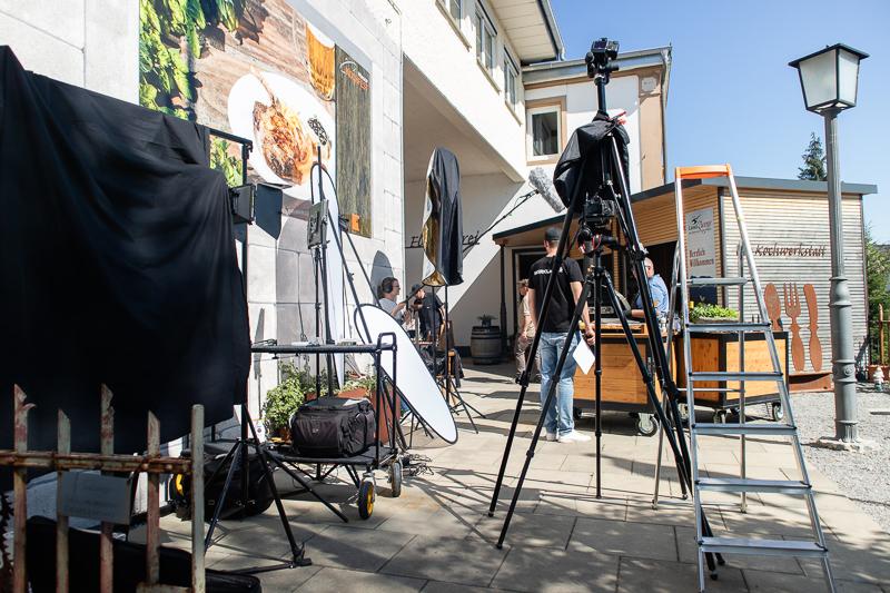 Behind the Scenes vom Dreh verschiedener Kochvideos bei Hörgers Kochfest in Lindau am Bodensee.
