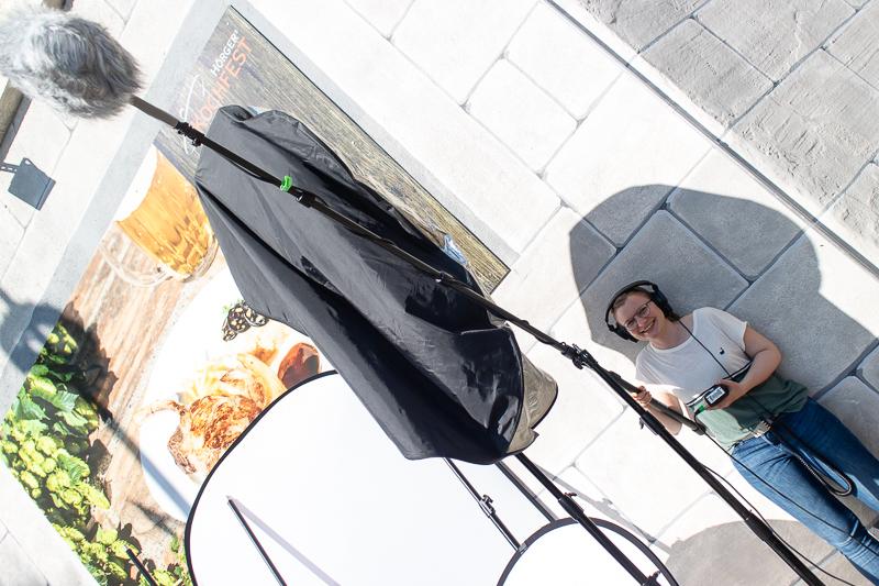 Making Of Foto vom Set der Videoproduktion bei Hörgers Kochfest in Lindau. Kochvideo Produktion von Matthias Baumgartner Videoproduktions GmbH.