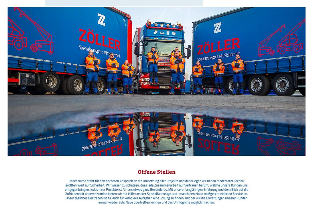 Das Team von Zöller Transporte aus Frankfurt, Foto von Matthias Baumgartner Werbefotografie